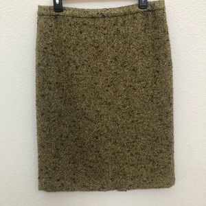 Jcrew wool blend texture pencil skirt Sz 8